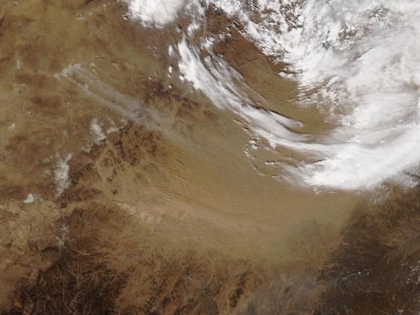 Dust storm in northeast China