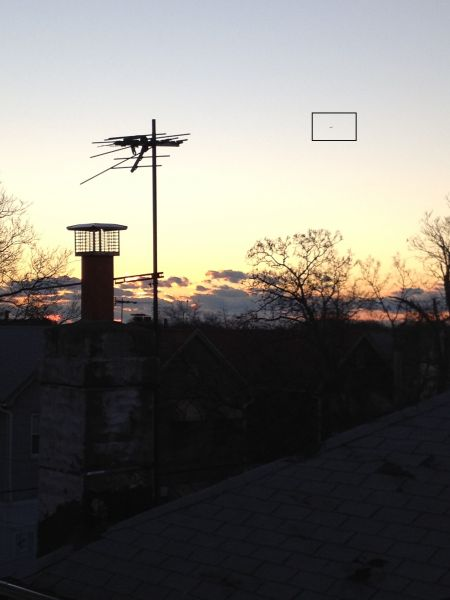 Ufo in scenery photo