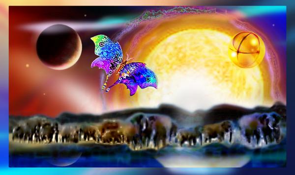 Elephants roaming in a far, far away Galaxy