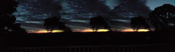 Dunedin winter night Panorama