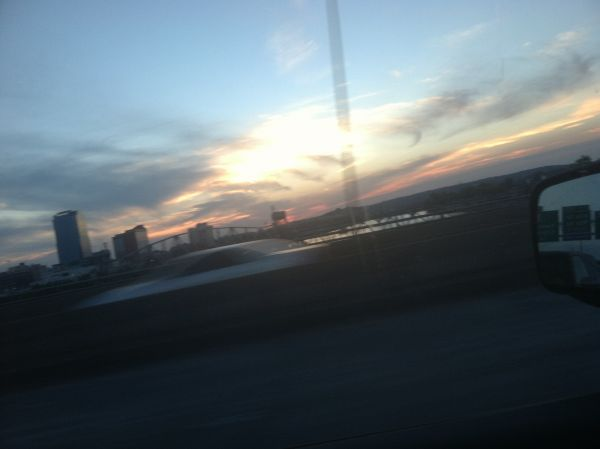Weird line in the sky