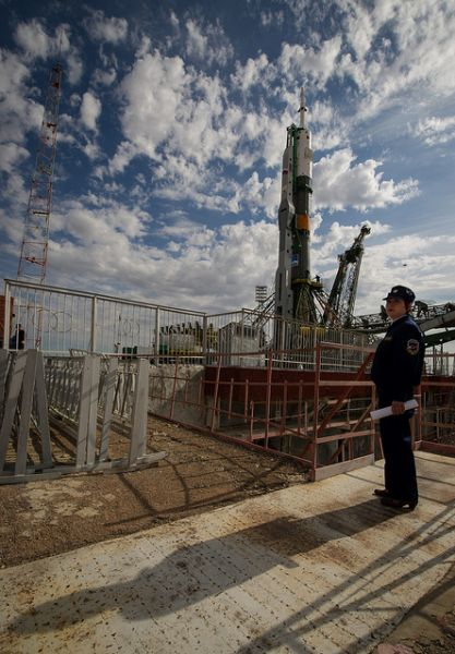 Expedition 31 Soyuz Rocket Rollout