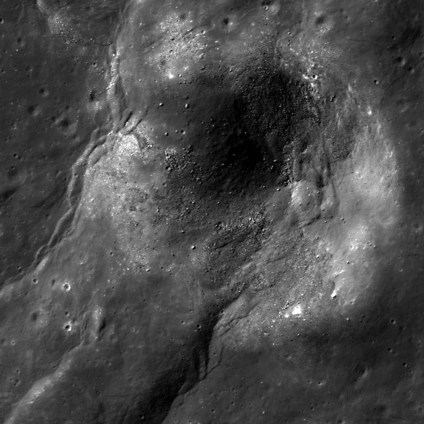 Lunar Reconnaissance Orbiter - A Wrinkly Crater