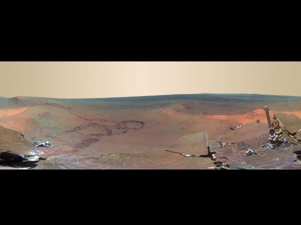 'Greeley Panorama' from Opportunity's Fifth Martian Winter