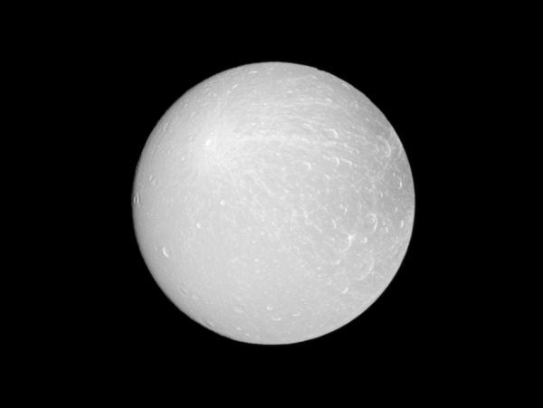 Dione Ray Crater