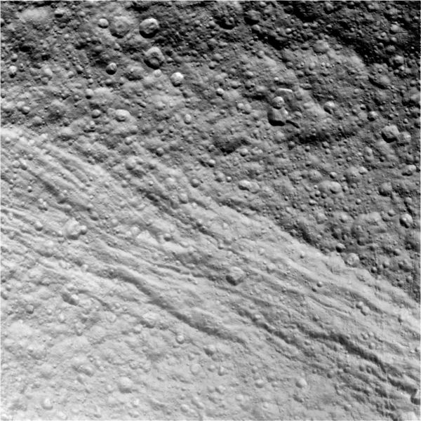 Cassini - Tethys Surface (Raw Image)
