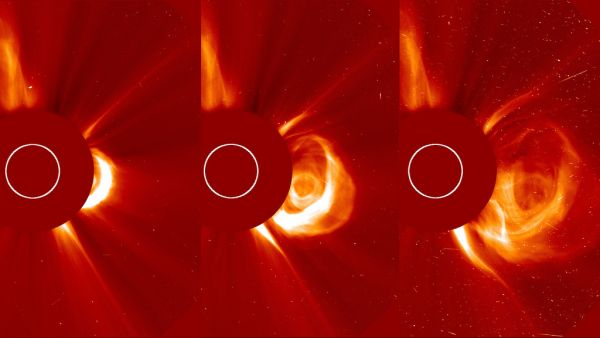 Massive CME Explodes on the Sun