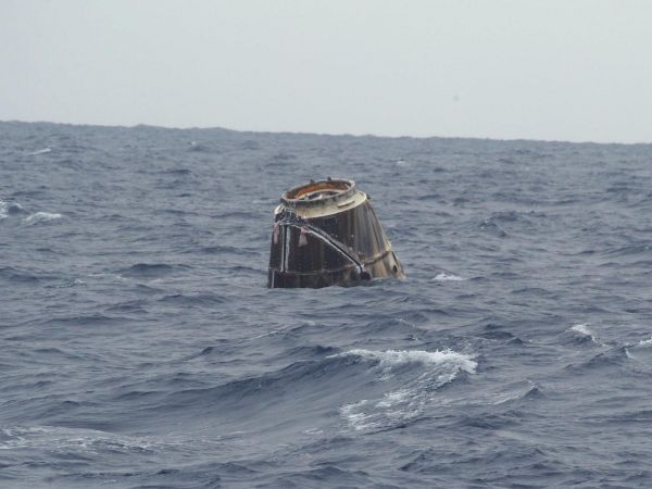 International Space Station - SpaceX Dragon After Splashdown