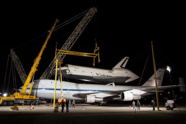 Enterprise on the move - Space Shuttle Enterprise Demate