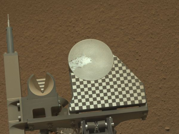 First Sample Placed on Curiosity's Observation Tray