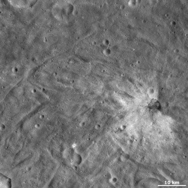 Vesta - Justina crater