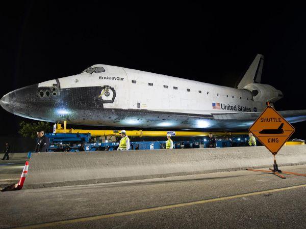Shuttle Endeavour Crossing