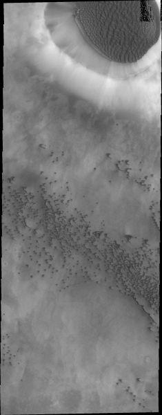 Mars Odyssey - Crater dunes