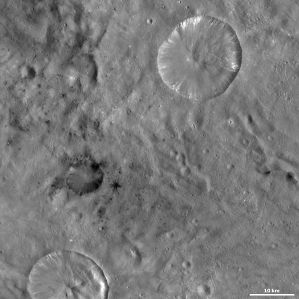 Vesta - Laelia and Sextilia craters