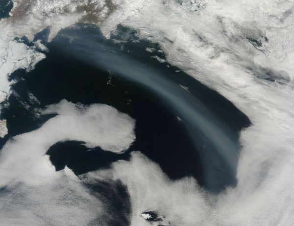 Smoke over the Bering Sea