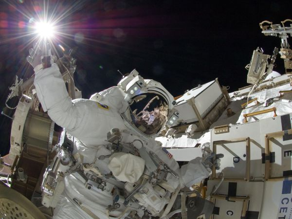 Sunita Williams on Spacewalk