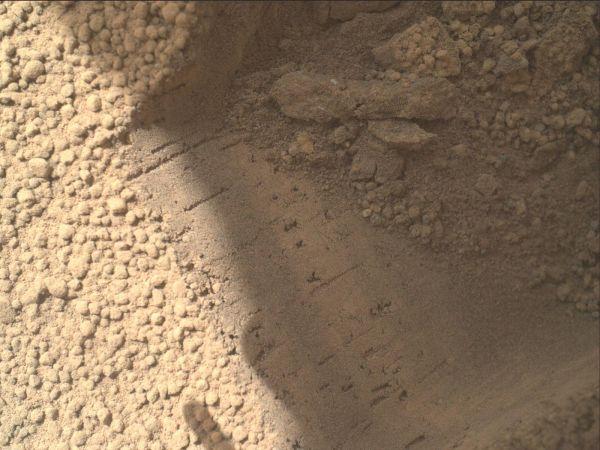 Bright Particle of Martian Origin in Scoop Hole