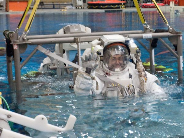 International Space Station - Astronaut Koichi Wakata Trains for Spacewalk