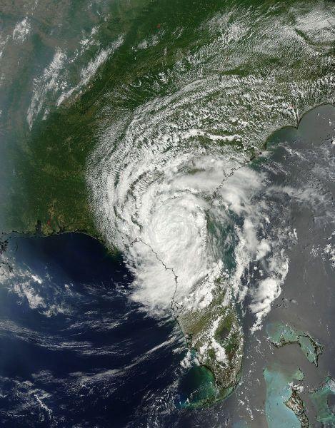 Tropical Storm Beryl (02L) over Florida and Georgia
