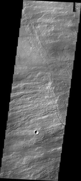 Mars Odyssey - Arsia Mons Flows