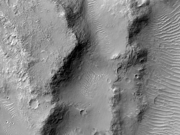 Mars Reconnaissance Orbiter - Near the Mouth of Morava Valles