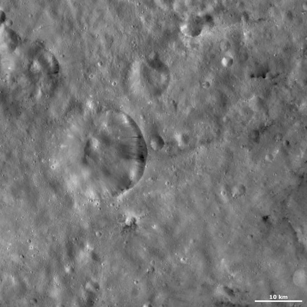 Vesta - Serena crater