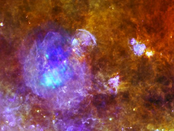 An Exploded Star's Remains and Its Murky Environment