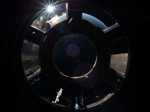 International Soace Station - Sunrise in Station Cupola