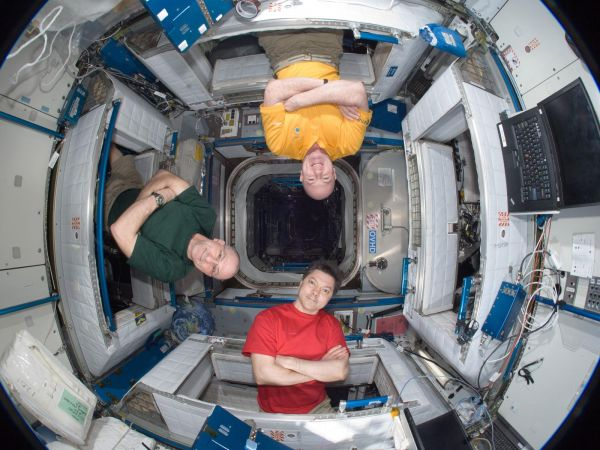 International Space Station - Oleg Kononenko, Don Pettit and Andre Kuipers
