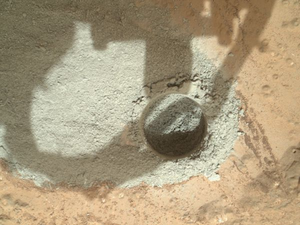 Preparatory Test of Drilling on Mars Generates Rock Powder