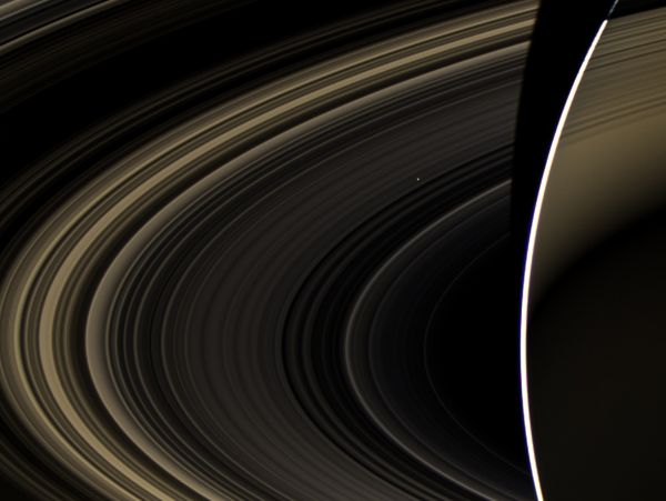 Earth's Twin Seen From Saturn