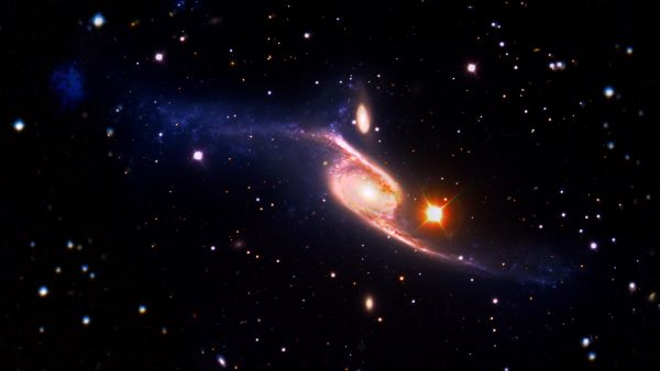 Giant barred spiral galaxy NGC 6872