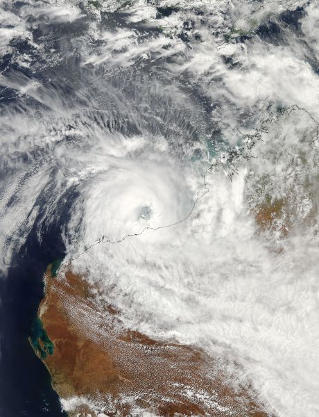 Tropical Cyclone Rusty (17S) over Western Australia