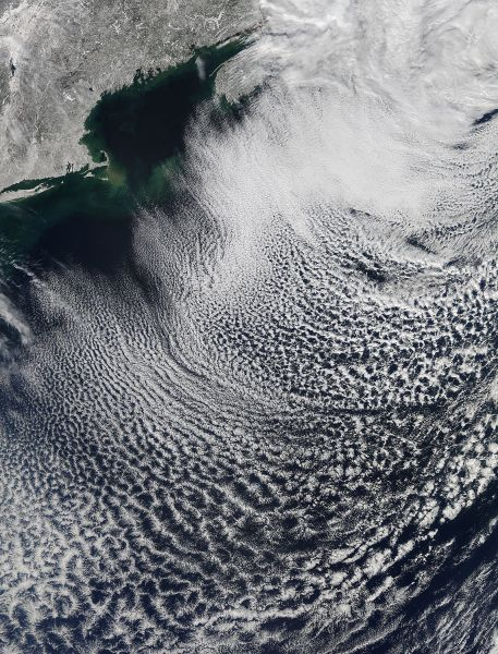 Cloud streets off New England