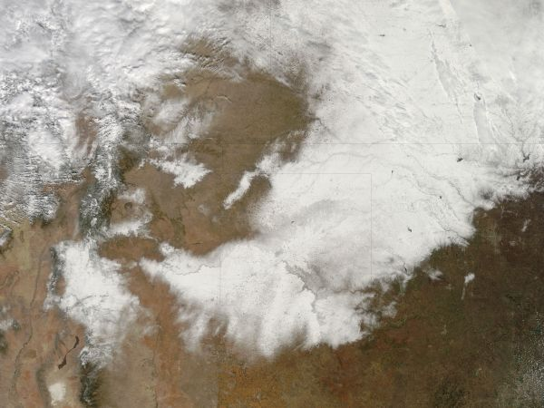 Snow across south central United States