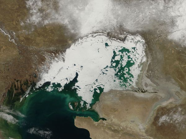 Ice in the northern Caspian Sea