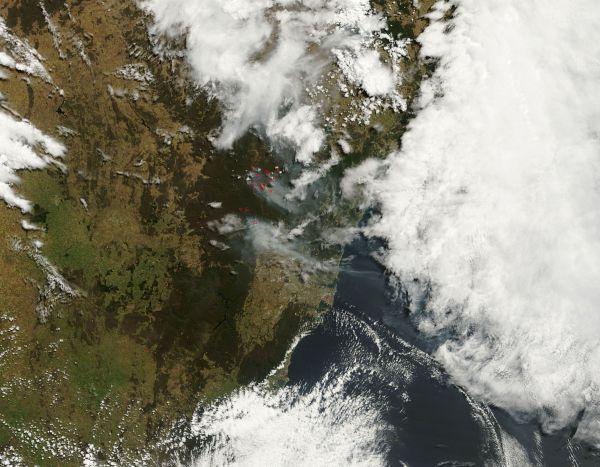 Fires near Sydney, Australia