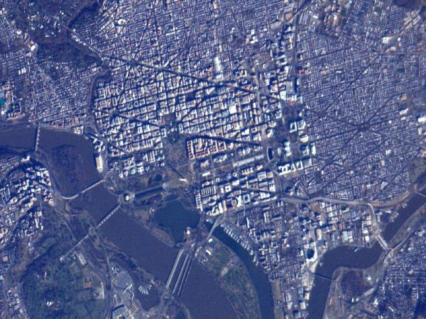 National Mall from Orbit
