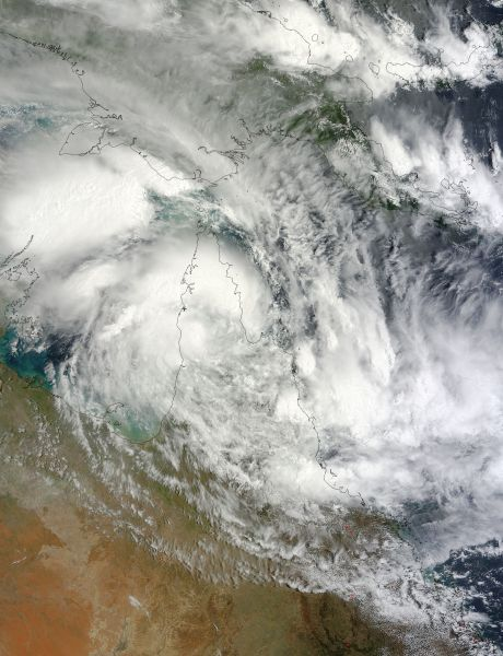 Tropical Cyclone Oswald (11P) over Australia