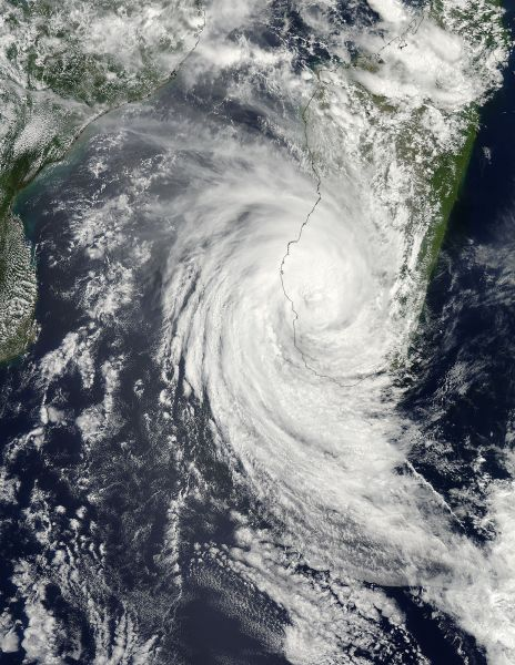 Tropical Cyclone Haruna (16S) over Madagascar