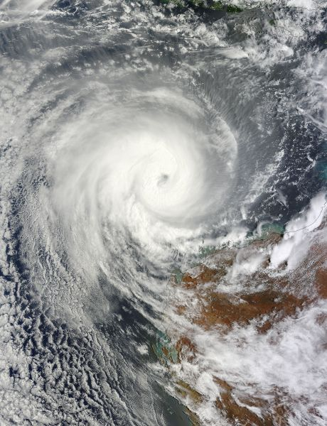 Tropical Cyclone Narelle (08S) off Australia