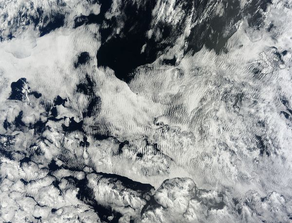 Cloud patterns in the eastern Pacific Ocean
