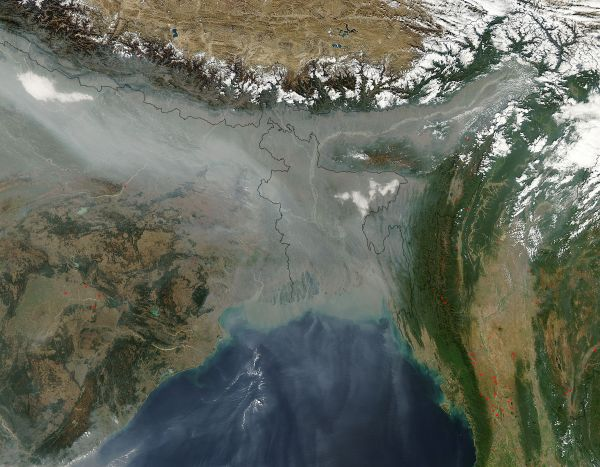 Haze over Bangladesh and India