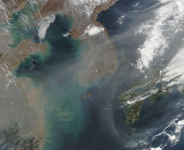 Haze over Korea