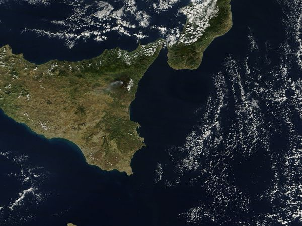 Plume from Mt. Etna In Sicily