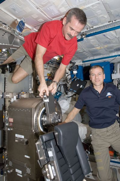 Astronauts Chris Hadfield and Tom Marshburn