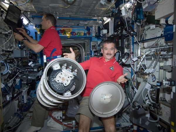 Chris Hadfield and Tom Marshburm