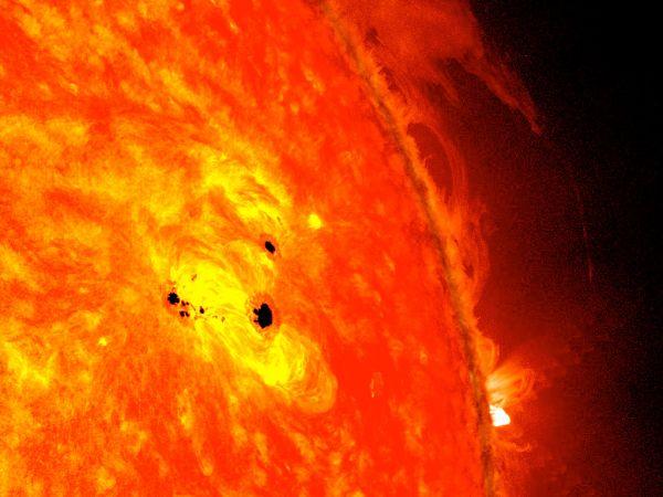 Fast-Growing Sunspot