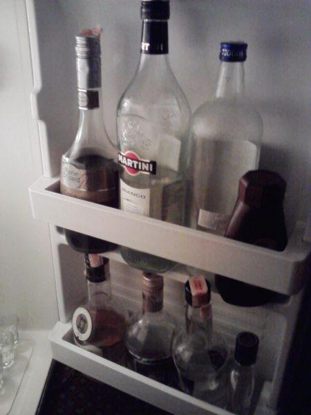 The fridge in my room