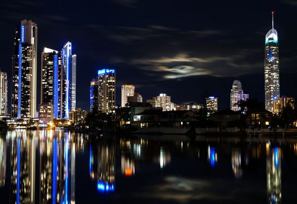 Surfers Paradise Supermoon